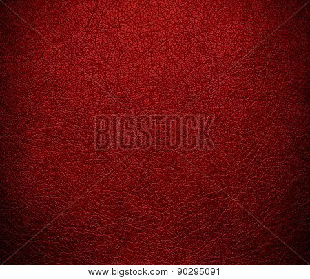 Crimson red color leather texture background