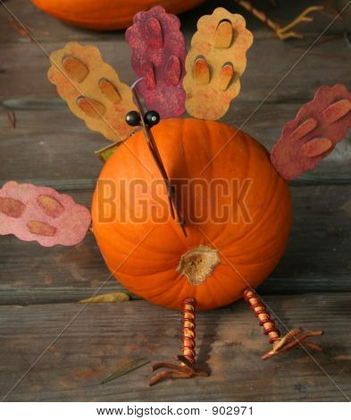 Pumpkin In A Turkey Disguise