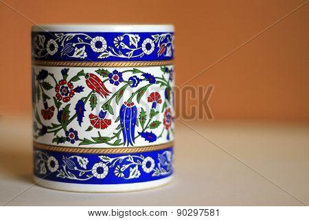 floral pattern printed mug
