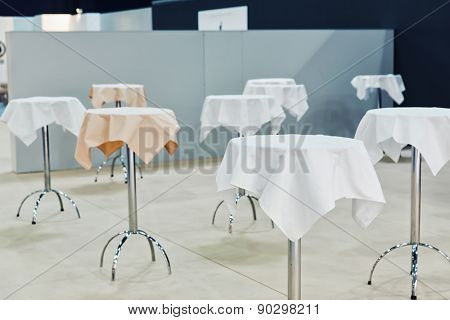 Many round little tables