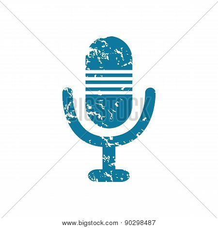 Grunge microphone icon