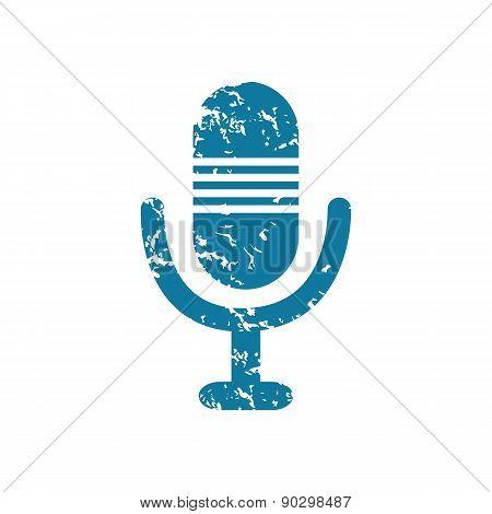 Grunge microphone icon