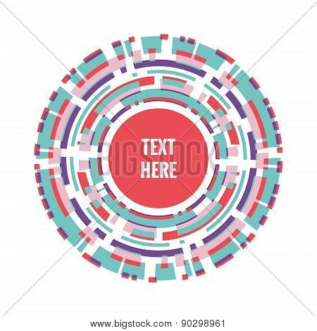 Abstract vector background. Many circles. Intersection of the rings.