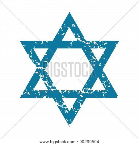Grunge Star of David icon