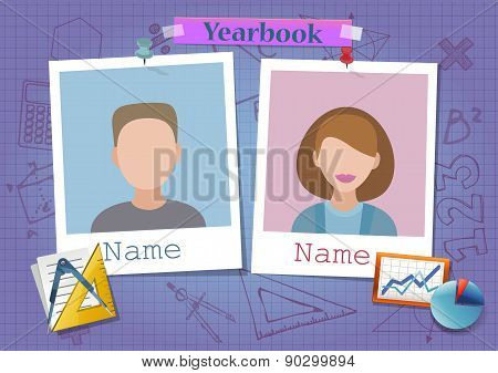 School album yearbook and mathematics