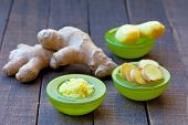 stock photo of grating  - Fresh ginger root - JPG