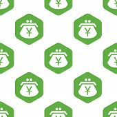 foto of yen  - Vector image of purse with yen symbol in hexagon - JPG