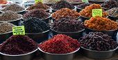 pic of dry fruit  - A group of various dried fruits at Turkish Bazaar - JPG