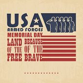 foto of army soldier  - US Army soldiers saluting on grunge american flag background vector  - JPG