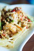 image of papaya  - papaya salad with horse crab close up  - JPG