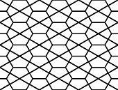 image of hexagon pattern  - Design seamless monochrome hexagon geometric pattern - JPG