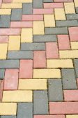 pic of paving  - colored paving the view from the top - JPG