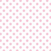 Big Pink Polka Dots On White