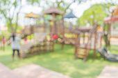 foto of public housing  - Defocused and blur image of children - JPG
