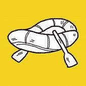 pic of raft  - Rafting Doodle - JPG