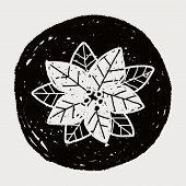 foto of poinsettias  - Poinsettia Doodle - JPG