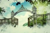 pic of gates heaven  - Representation of the heaven gate in an old illustration - JPG