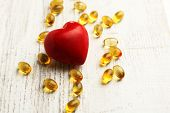 picture of cod  - Red heart and cod liver oil - JPG