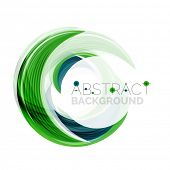 foto of slogan  - Vector swirl line abstract background - JPG