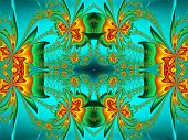 stock photo of computer-generated  - Flower pattern in fractal design - JPG