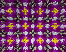 foto of parallelepiped  - background pattern made from piece of flower in modern style created from filter technique - JPG