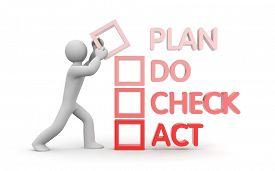 stock photo of plan-do-check-act  - Plan Do Check Act metaphor - JPG