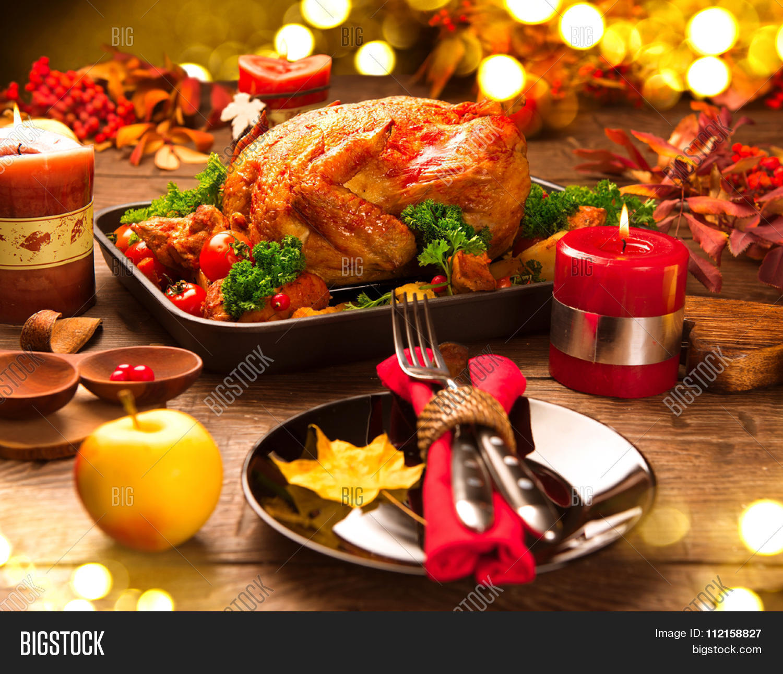 Roasted Turkey Christmas Dinner Image Amp Photo Bigstock