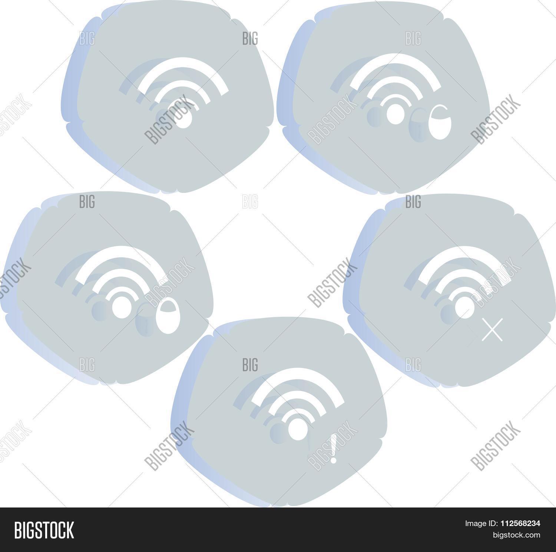 Wifi icon white label network vector photo bigstock wifi icon white label network lock cross exclamation mark in light blue biocorpaavc
