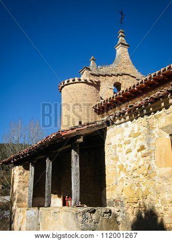 Small Church At The Side Of The Road, Tobera, Burgos, Castilla Y Leon, Spain