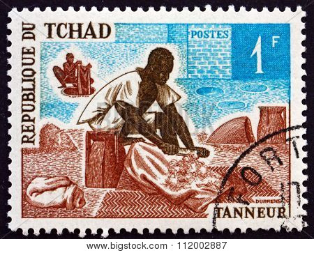 Postage Stamp Chad 1970 Tanner, Occupation