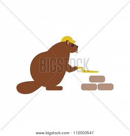 flat icon on white background beaver builder