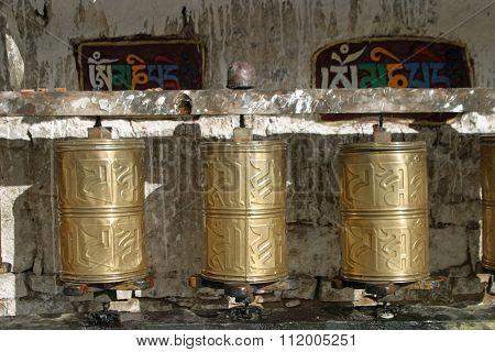 Mani wheel at Potala palace, Lhasa, Tibet, China