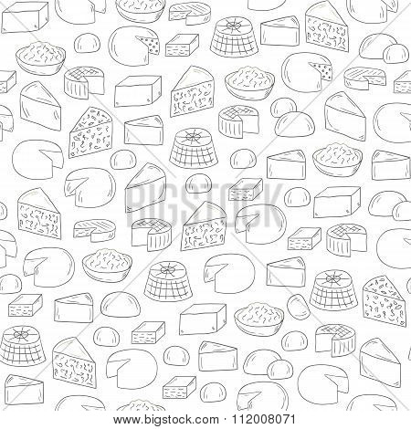 Seamless cheese background