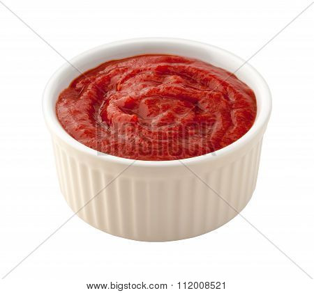 Cocktail Sauce In A White Ramekin