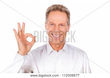 Confident Man Gestures