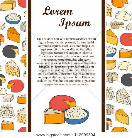 Vector cheese concept