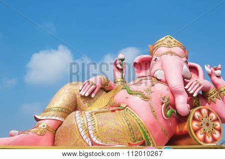 Ganesh Statue In Chachoengsao Province Of Thailand