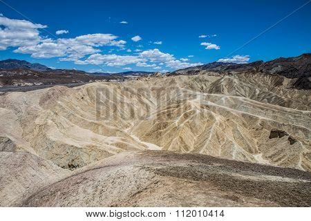 Zabriskie Point Panorama Death Valley
