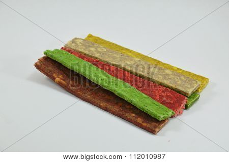 dog snack flat munch on white background