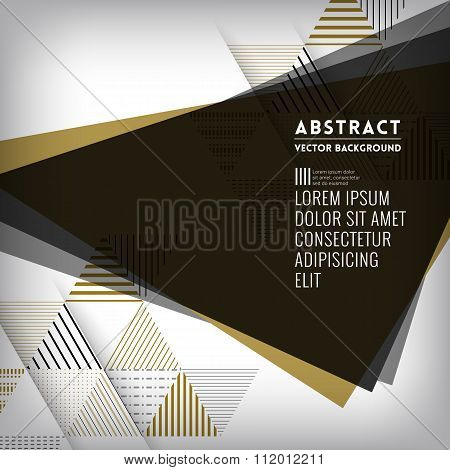 Abstract Black Triangle Shape Background