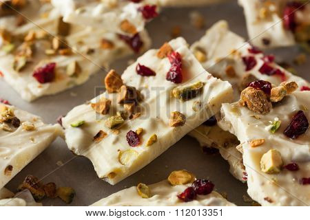 Festive White Chocolate Holiday Bark
