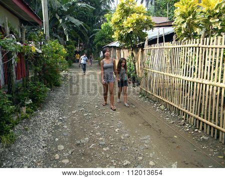 Walking through Mabini