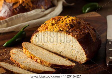 Homemade Jalapeno Cheddar Bread