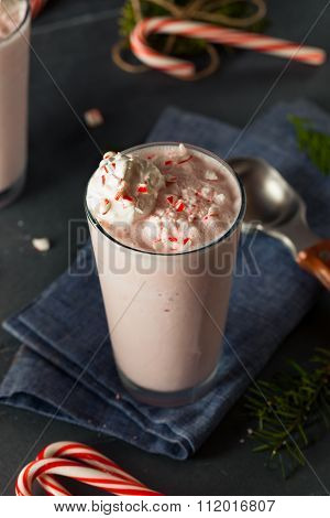Candy Cane Peppermint Milkshake