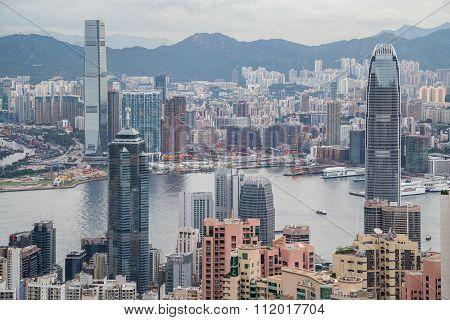 Panorama Of Hong Kong, Kowloon And Victoria Harbour, Hong  Kong