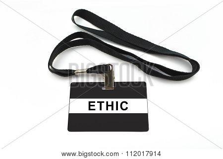 Ethic Badge Isolated On White Background