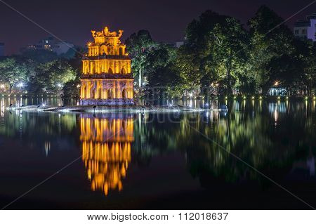 The Temple Of The Jade Mountain, Hoan Kiem Lake, Hanoi,  Vietnam