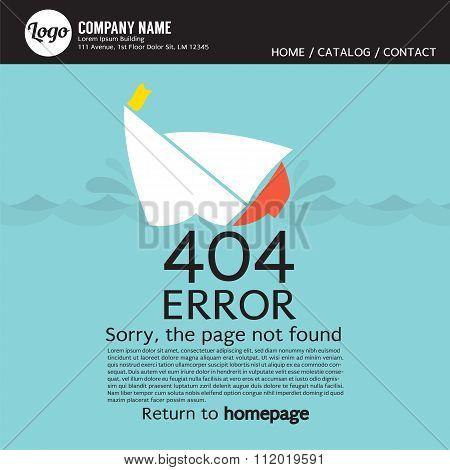 Page Not Found Error 404.