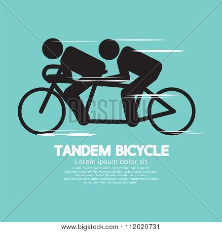 Black Symbol Tandem Bicycle.