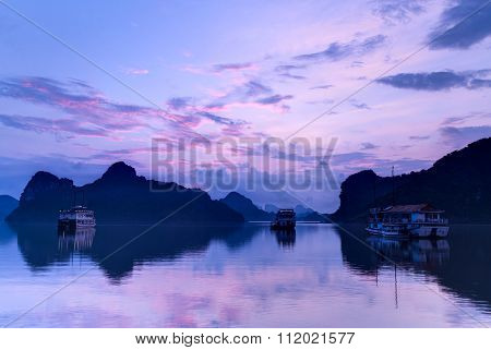 Sunrise In Halong Bay,  Vietnam